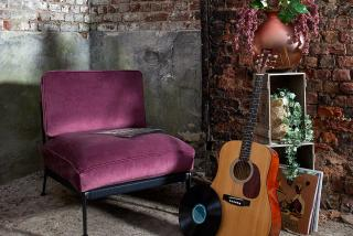 chair with purple opal velvet fabric