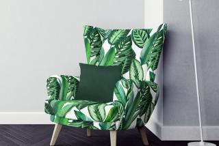 armchair with digital printed fabric