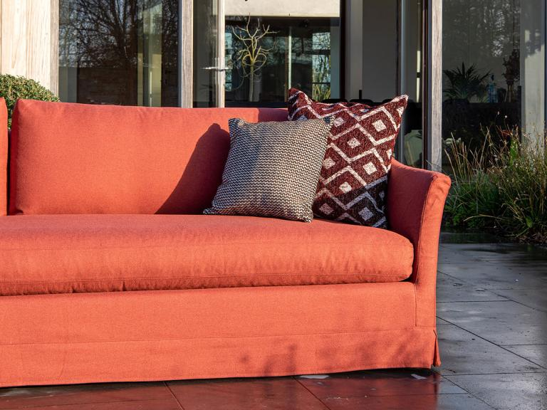 sofa with chelsea woven fabric