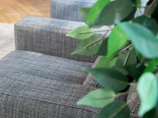 sofa with structured fabric corsica