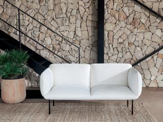 sofa with structured sorrento fabric