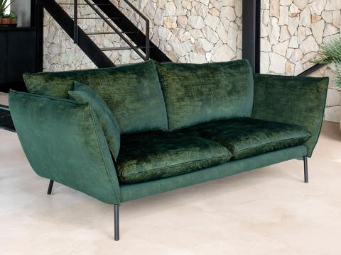 sofa with chameleon knitted velvet