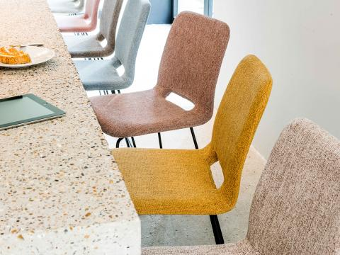 chairs with duo-tone san remo chenille fabric