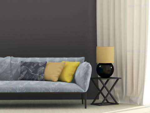 sofa with digital printed fabric