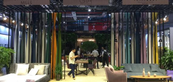Symhony Mills' booth at Intertextile Shanghai
