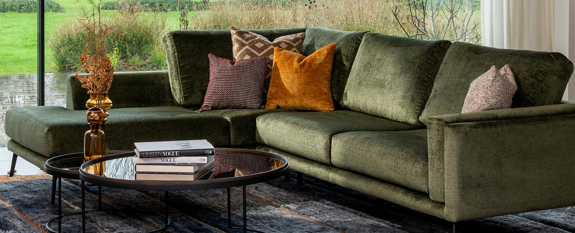 sofa covered with bergen fabric